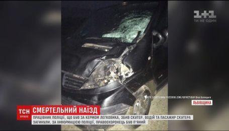 На Львовщине сотрудник полиции насмерть сбил двух скутеристов