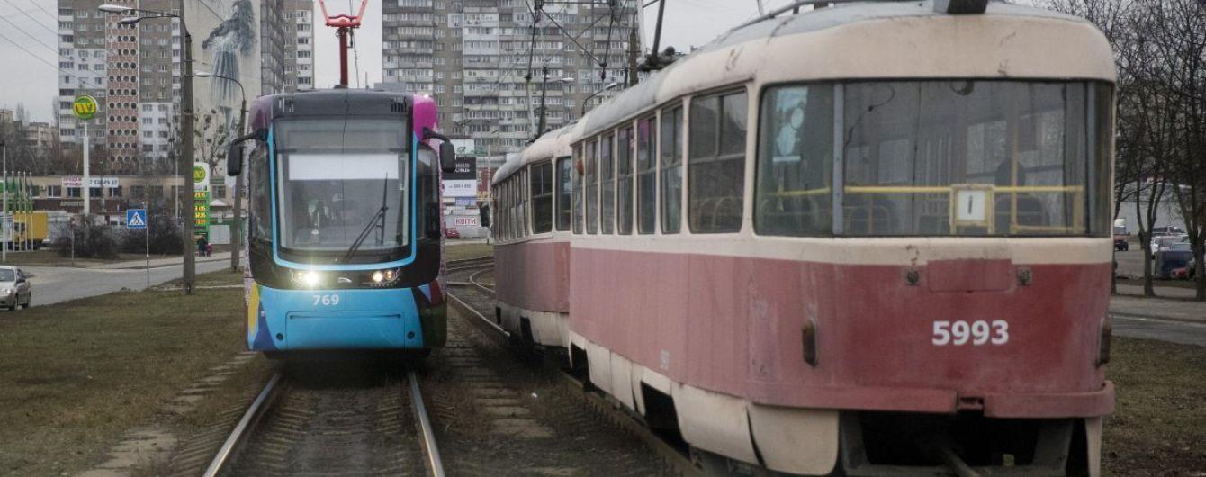 В Киеве планируют построить трамвайную линию Троещина - Осокорки