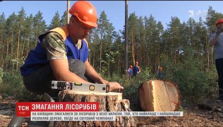 Зрубати і розпиляти. На Київщині пройшли змагання лісорубів