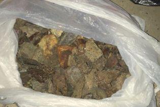 На Ривненщине полиция изъяла рекордное количество янтаря