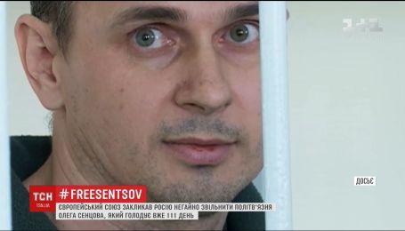 ЄС закликав Росію негайно звільнити Сенцова
