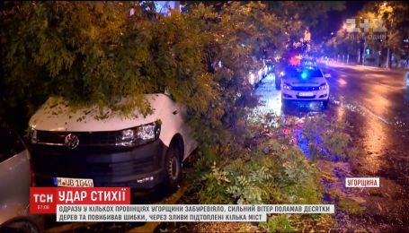 Сильный ветер и ливни пронеслись несколькими провинциями и столицей Венгрии