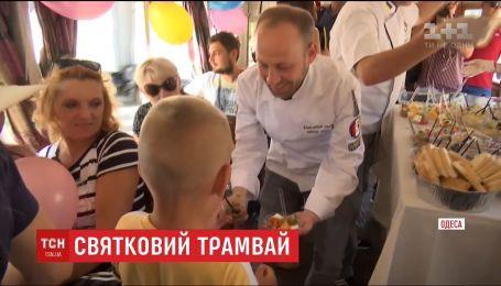 В Одессе ко Дню города запустили особый трамвай