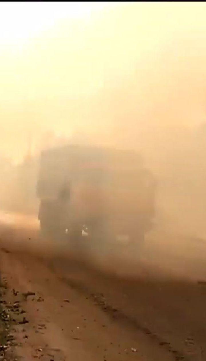 На Харківщині дві доби поспіль гасили масштабну лісову пожежу