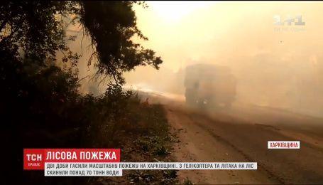 На Харьковщине двое суток подряд тушили масштабный лесной пожар
