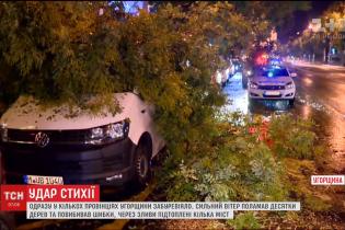 По Венгрии пронесся мощный ураган с ливнем