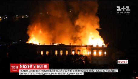 В Рио-Де-Жанейро сгорел самый старый музей Бразилии с миллионами экспонатов