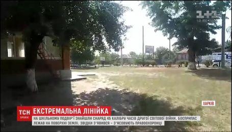 Экстремальная линейка. В Харькове эвакуировали школу из-за найденного во дворе боеприпаса