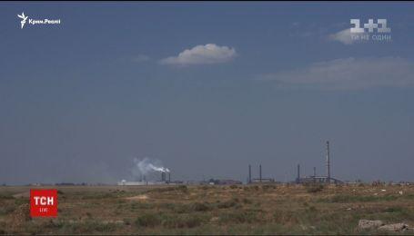 Пограничники обнаружили превышение норм токсичных веществ в воздухе на границе с Крымом