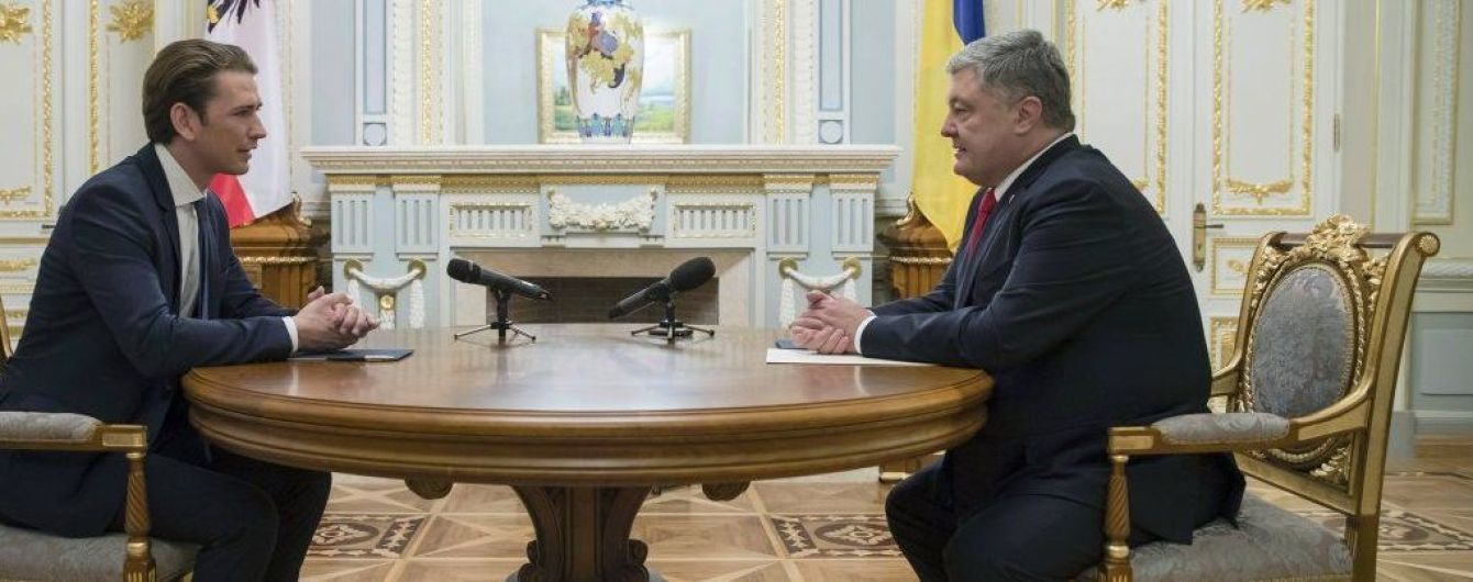 Санкции против России и восстановление Донбасса: о чем договорились Порошенко и Курц