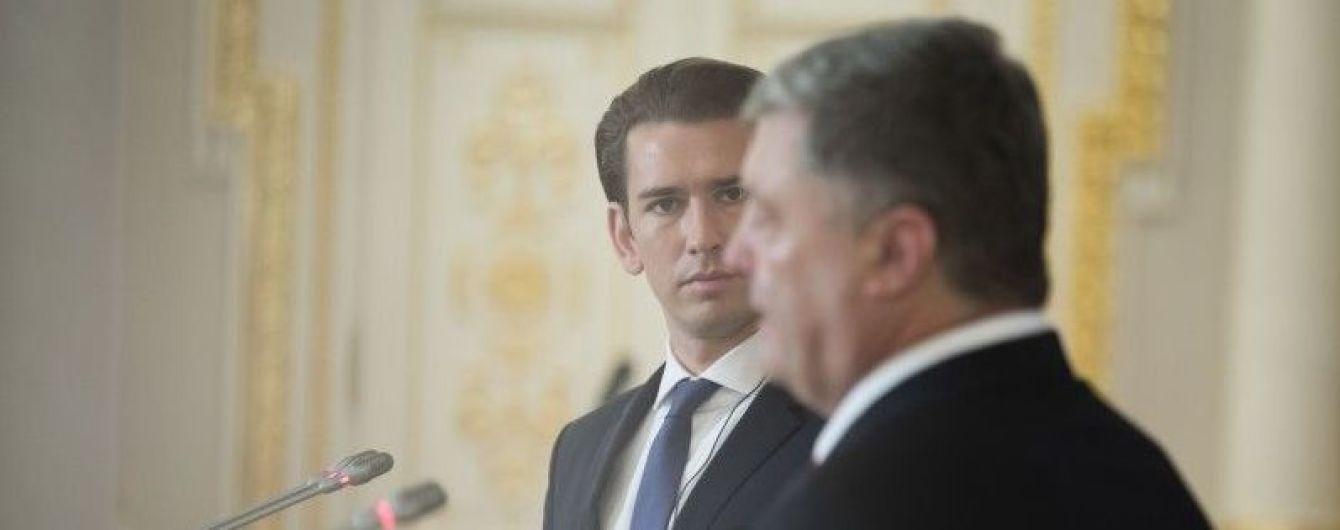 Курц: Ожидаем очень четкой реакции на российскую агрессию