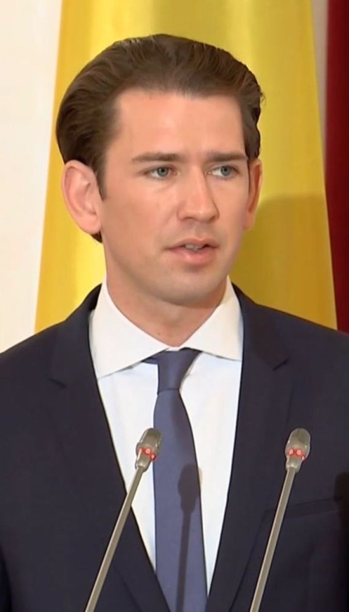 Канцлер Австрії завітав до України та заявив про підтримку санкцій проти Росії