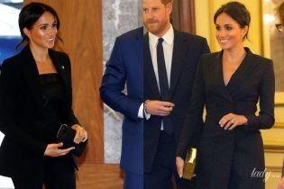 Битва образов герцогини Сассекской Меган: костюм vs платье-пиджак