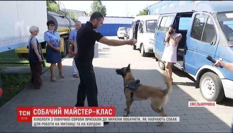 В Украину из Финляндии приехали кинологи посмотреть, как учат пограничных собак