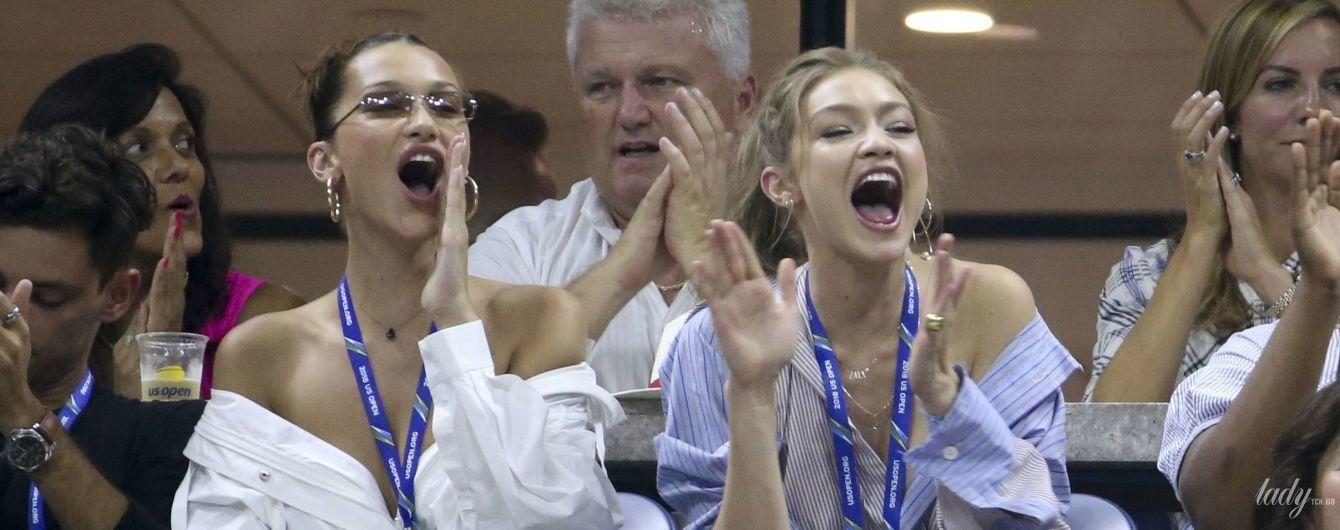 Це не спортивно: сестри Хадід прийшли на тенісний турнір у відвертих вбраннях