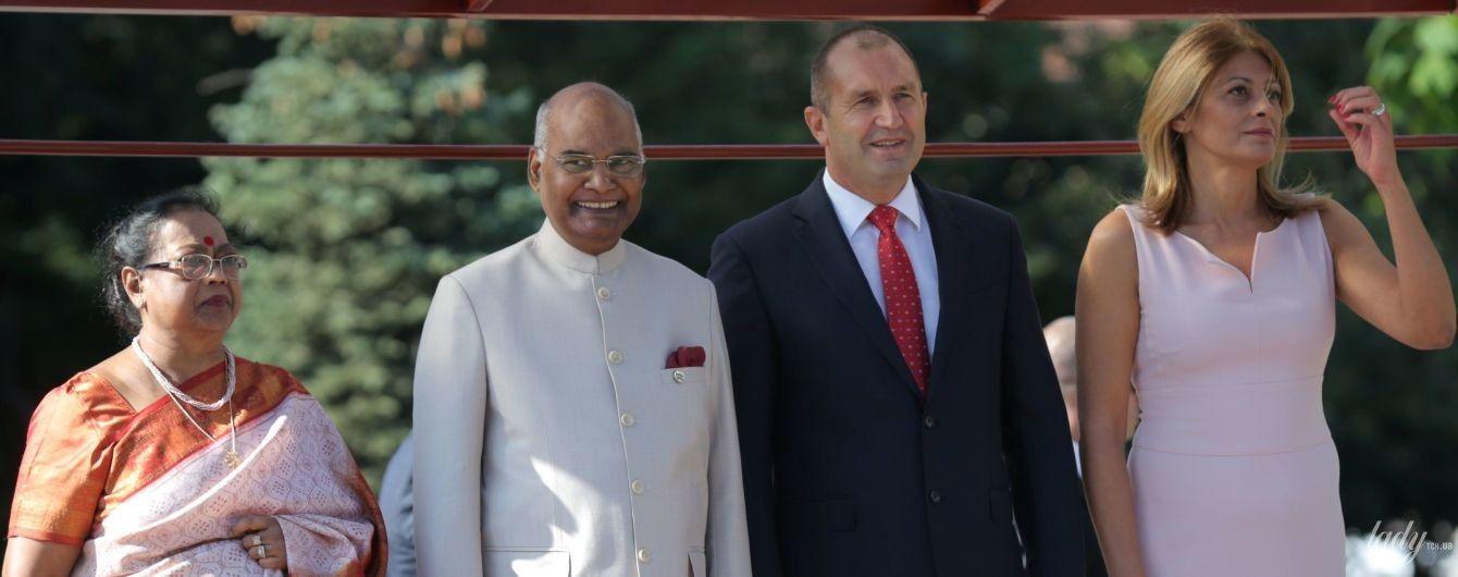 Постарались: жены президентов Индии и Болгарии продемонстрировали эффектные образы