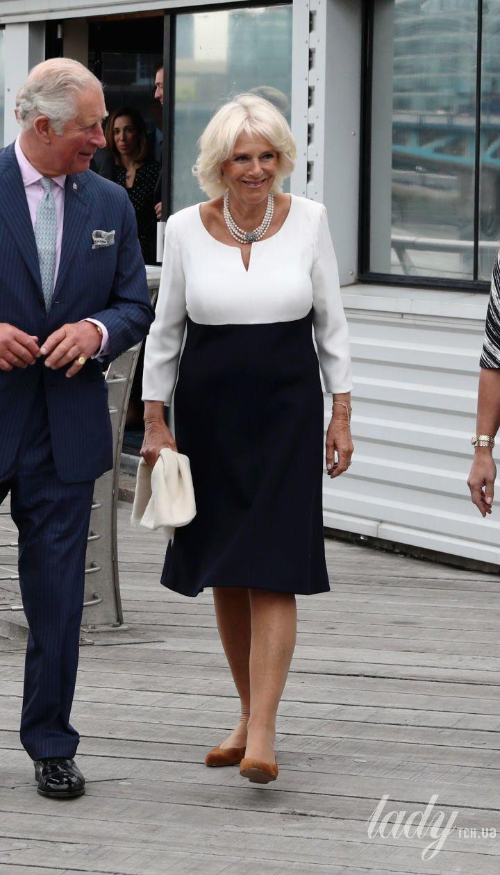 Герцогиня Корнуольская Камилла, принц Чарльз и иорданская принцесса Хайя бинт аль-Хусейн