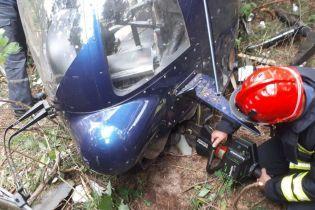 Стало известно, кому принадлежит разбившийся на Трухановом острове в Киеве вертолет