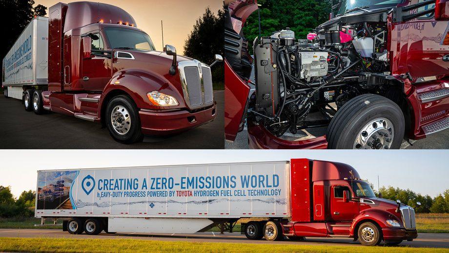 Toyota, фура, грузовик, водород