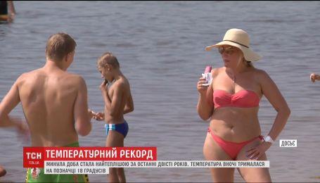 Киев побил температурный рекорд теплой ночью