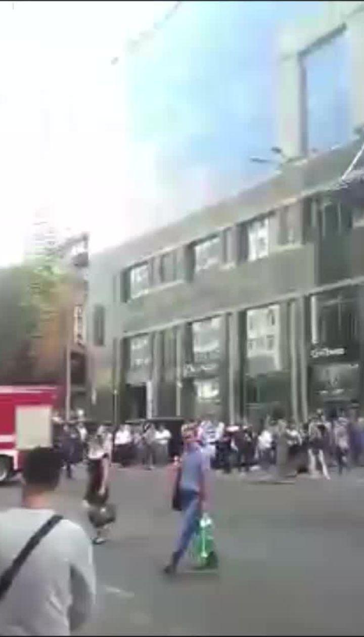 """В Сети сообщили о пожаре в бизнес-центре """"Парус"""""""