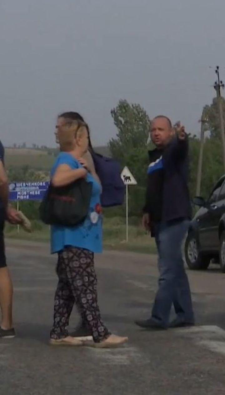 Жителі Токмака перекрили трасу Енергодар-Бердянськ, протестуючи проти будівництва нової ТЕЦ