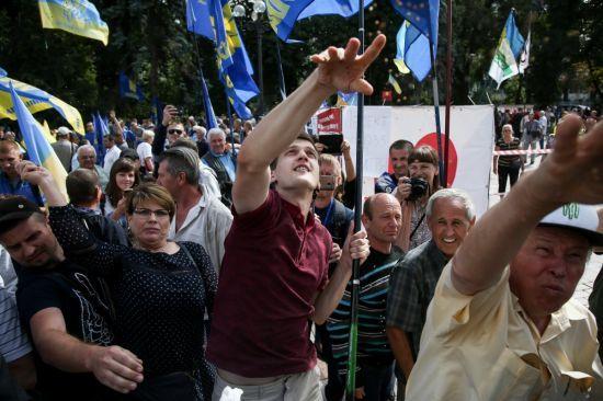 """""""Ні виборам за законами Януковича"""". Під Радою вимагали змінити виборче законодавство"""