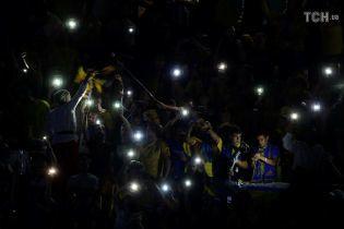 """Українські вболівальники потужно заспівали """"Путін х*йло"""" перед переможною грою збірної з Чехією"""