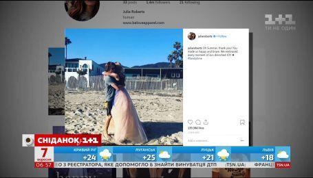 Джулия Робертс впервые за 16 лет опубликовала совместное фото со своим мужем в инстаграме