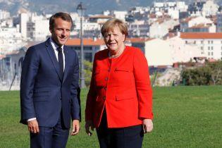 Меркель і Макрон у Марселі звіряють позиції щодо України і Сирії