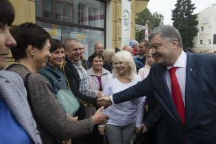 Порошенко поздравил оккупированный Луганск с днем города