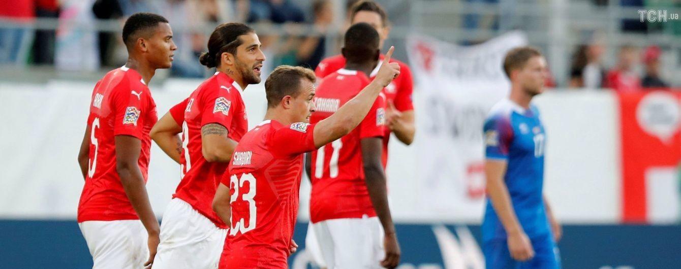 Лига наций. Швейцария отгрузила шесть безответных мячей в ворота Исландии