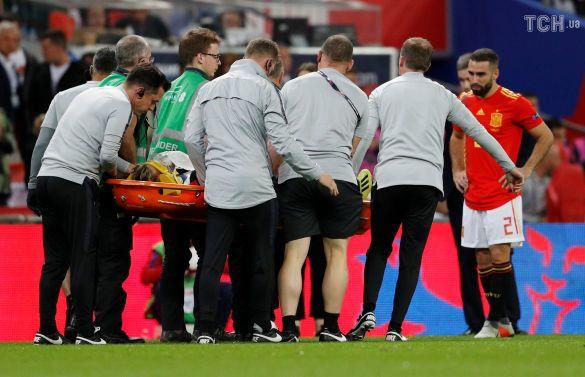 Англія - Іспанія, травма Люка Шоу