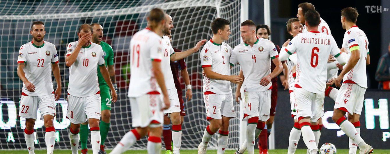"""""""Хто не скаче, той москаль"""": білоруські фанати палко підтримали Україну під час матчу Ліги націй"""