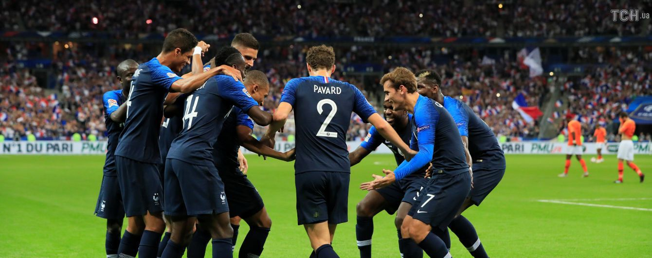Лига наций. Сборная Франции одержала тяжелую победу над Нидерландами