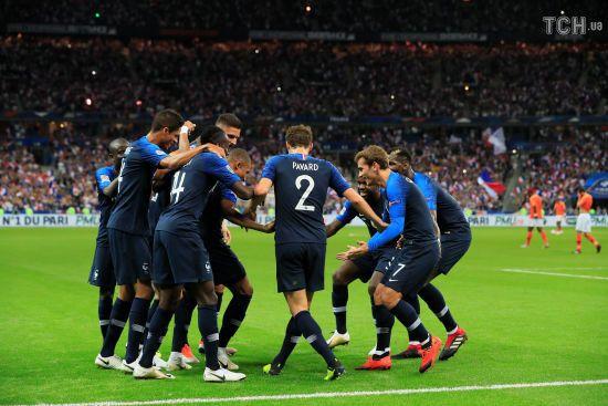 Ліга націй. Збірна Франції здобула важку перемогу над Нідерландами