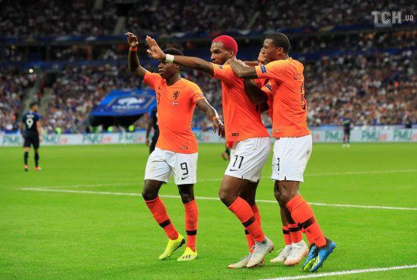 Радість футболістів збірної Нідерландів
