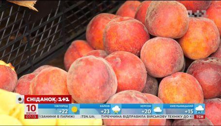 Літня спека позитивно позначилась на фруктах та овочах, які містять цукор