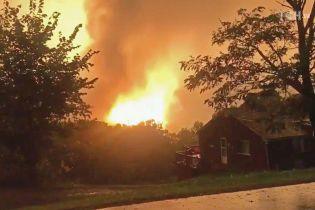 У США посеред житлового кварталу на газопроводі стався потужний вибух