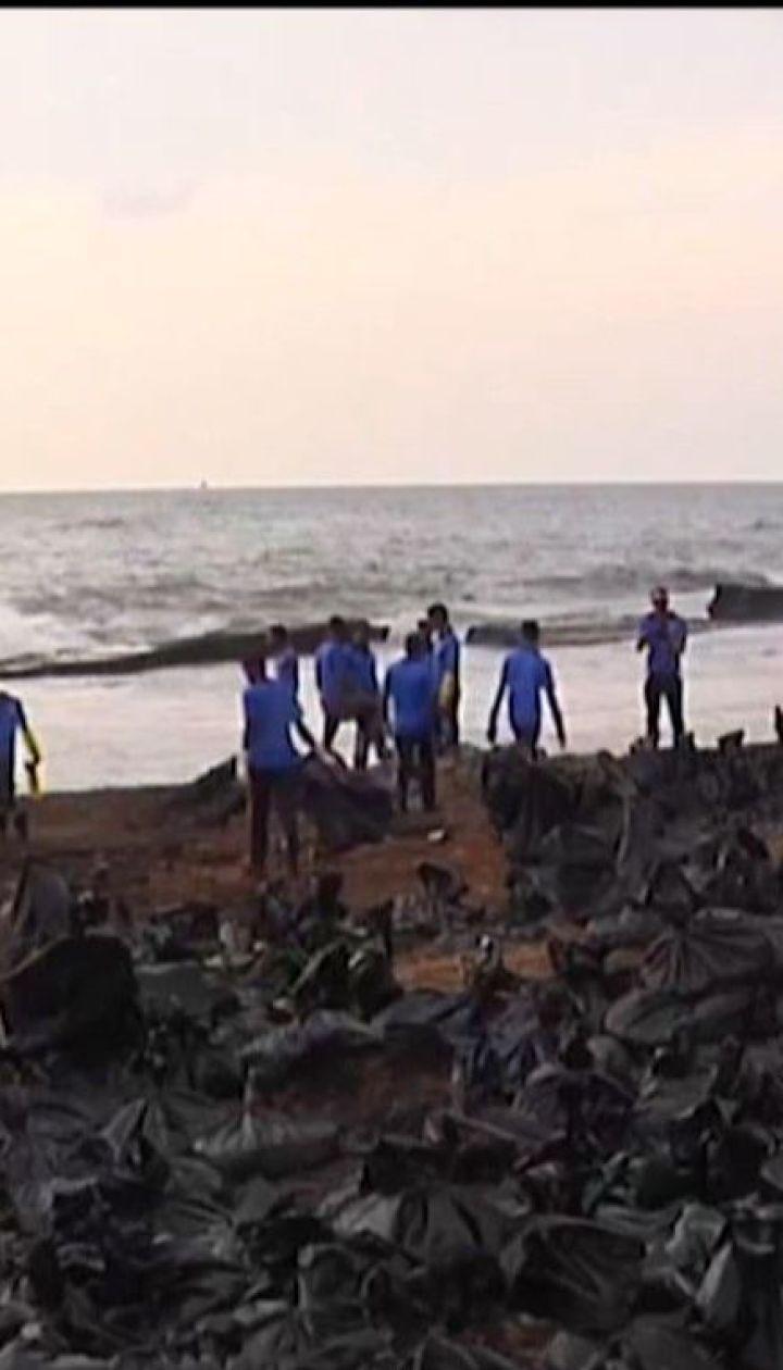 Возле столицы Шри-Ланки в море вылилось 25 тонн нефти