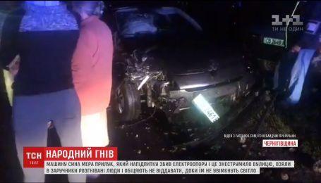 В Прилуках пьяный сын мэра сбил столб, обесточив целую улицу