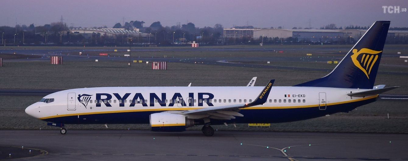 Несмотря на массовую забастовку пилотов, Ryanair не отменил первый рейс в Киев