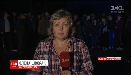 """Митингующие продолжают блокировать трассу """"Кропивницкий-Николаев"""". Подробности с места событий"""