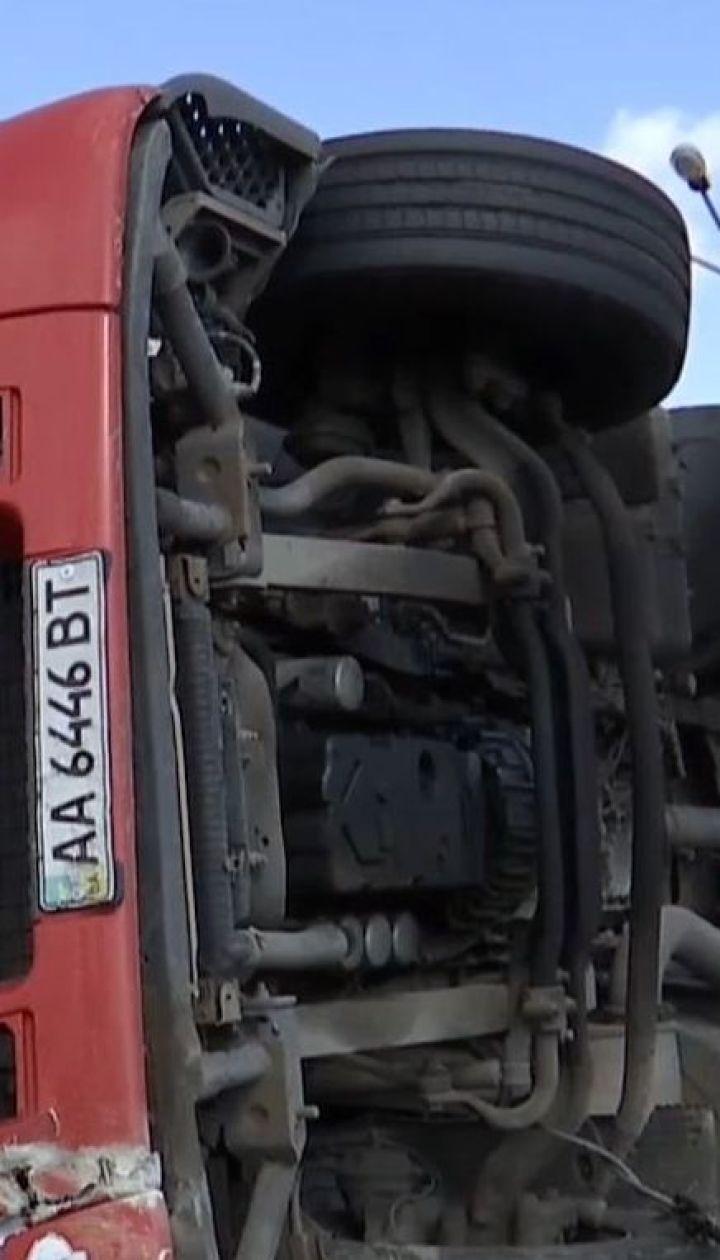 """Пьяный водитель грузовика устроил ДТП на трассе """"Киев-Чоп"""""""