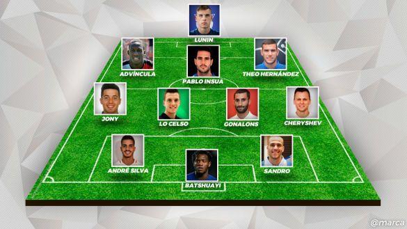 Збірна орендованих футболістів в Іспанії