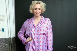 """В шелковом пижамном костюме: неожиданный образ звезды """"Игры престолов"""" Гвендолин Кристи"""