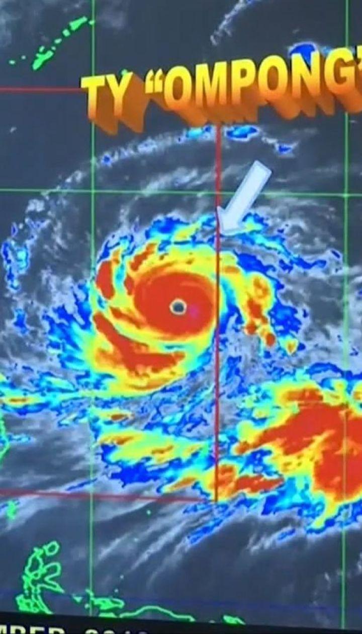 """На Филиппины надвигается мощнейший тайфун """"Мангхут"""". Стихия набирает обороты"""