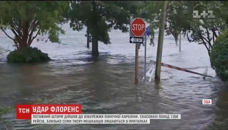 По оценкам метеорологов, на Северную Каролину прольется 30 триллионов литров воды