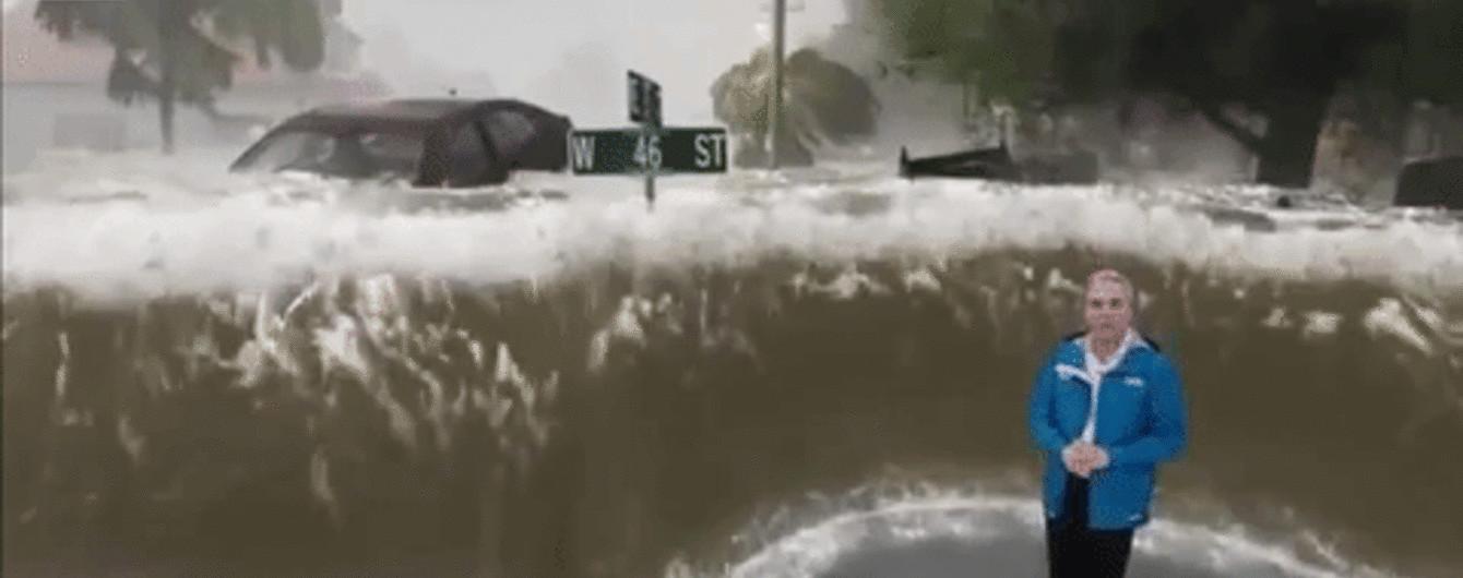 """Відчути себе посеред стихії: у США показали лють урагану """"Флоренс"""" за допомогою змішаної реальності"""