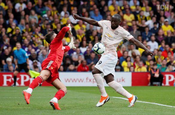 Лукаку забиває гол, Вотфорд-Манчестер Юнайтед